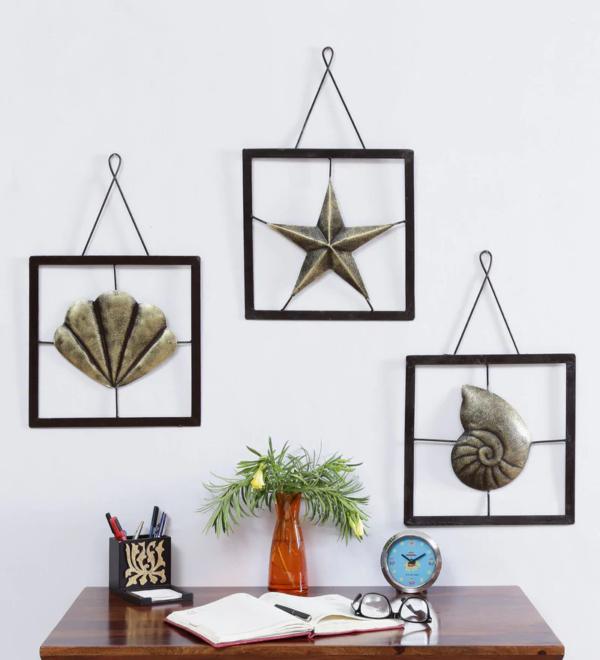 Ocean World Metal Wall Frame Set Of 3