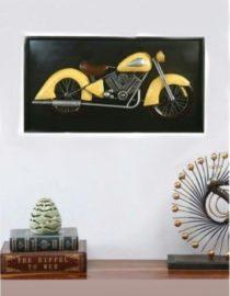 Gold Iron Big Flower Metal Wall Art