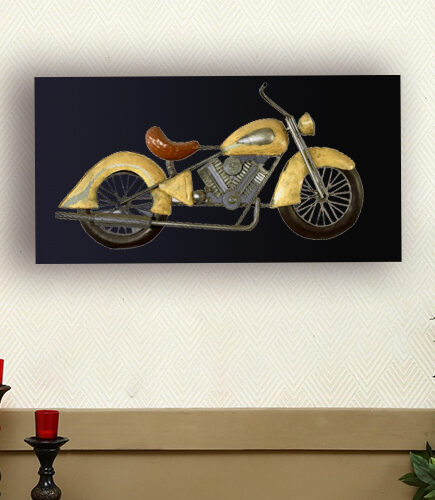 Metal Classic Bike Wall Hanging with back led lights