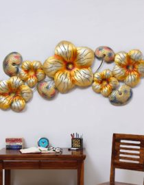 Buy Gold Iron Big Flower Metal Wall Art Online