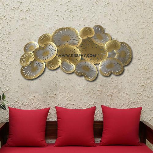Designer Golden Leaves Metal Wall Decor