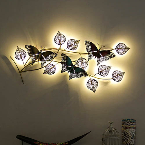 Buy Butterfly Wall Art With Back Led Lights Online At Best Price