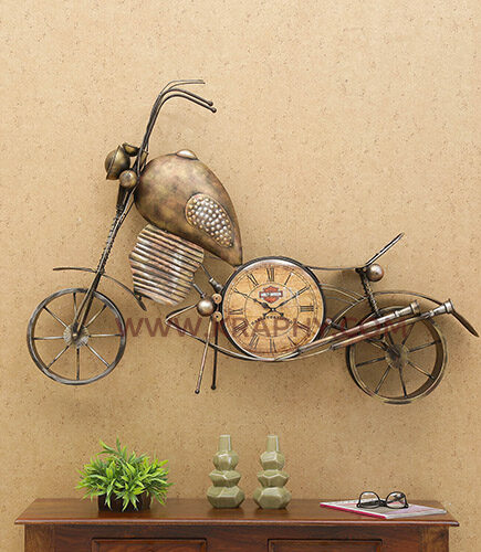 Brown-Wrought-Iron-Bike-Wall-Hanging-Automobile-Metal-Art