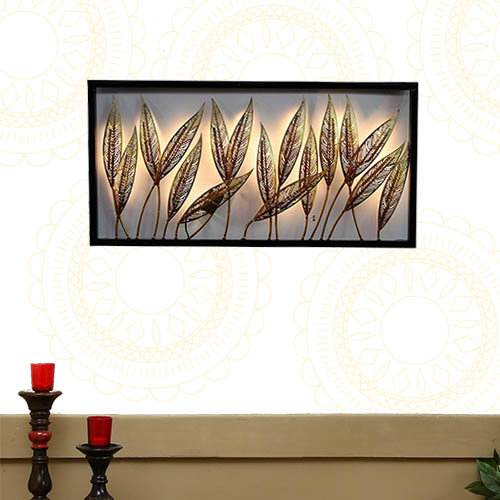 Decorative Leafs Frame Panel Wall Decor