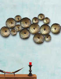 Decorative Metal Flowers Antique Wall Decor Hanging