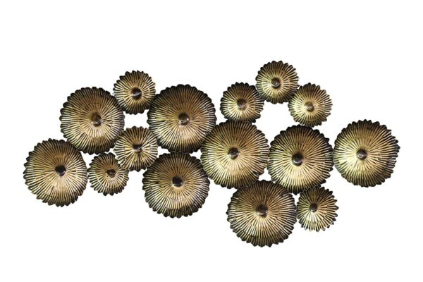 Decorative Metal Flowers Antique Panel Wall Decor and Hanging