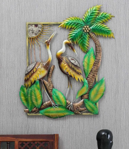 Green Metal Wildlife Decorative Wall Art