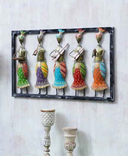 Multicolor Metal Musician Decorative Wall Art
