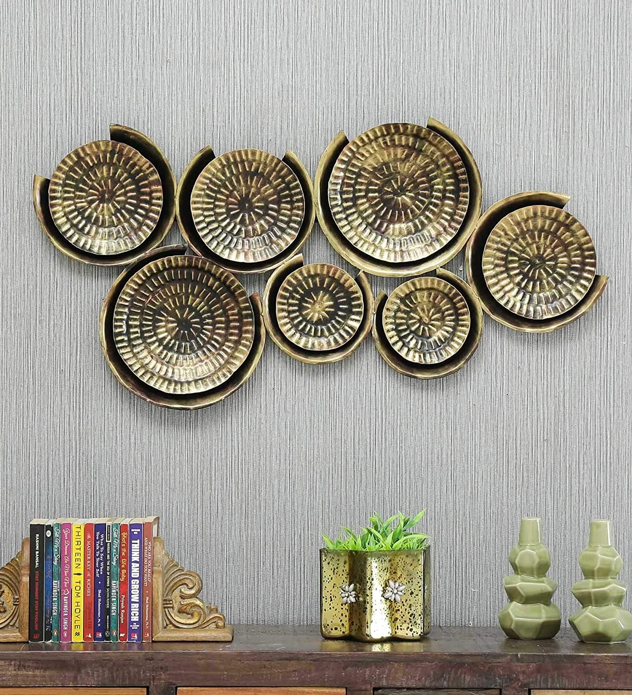 Buy 7 Plates Metal Wall Art Wall Decor Online - KRAPHY